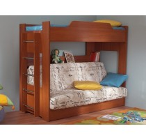 Кровать детская двухъярусная с диваном (Боровичи)