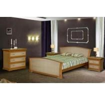 """Кровать """"Орхидея"""" с ротангом"""