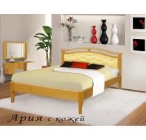 """Кровать """"Ария"""" с кожей"""