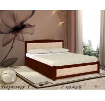 """Кровать """"Берёзка-1"""" с кожей"""