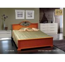 """Кровать """"Жасмин"""" с художественной ковкой"""