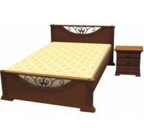 """Кровать """"Кристина"""" с художественной ковкой"""
