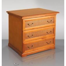 Комод деревянный №3 с ротангом