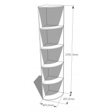 Угловой элемент прямой: дл. 450, выс. 2350
