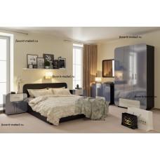 """""""Модерн Люкс-5"""" спальный гарнитур с глянцевым, закруглённым фасадом."""